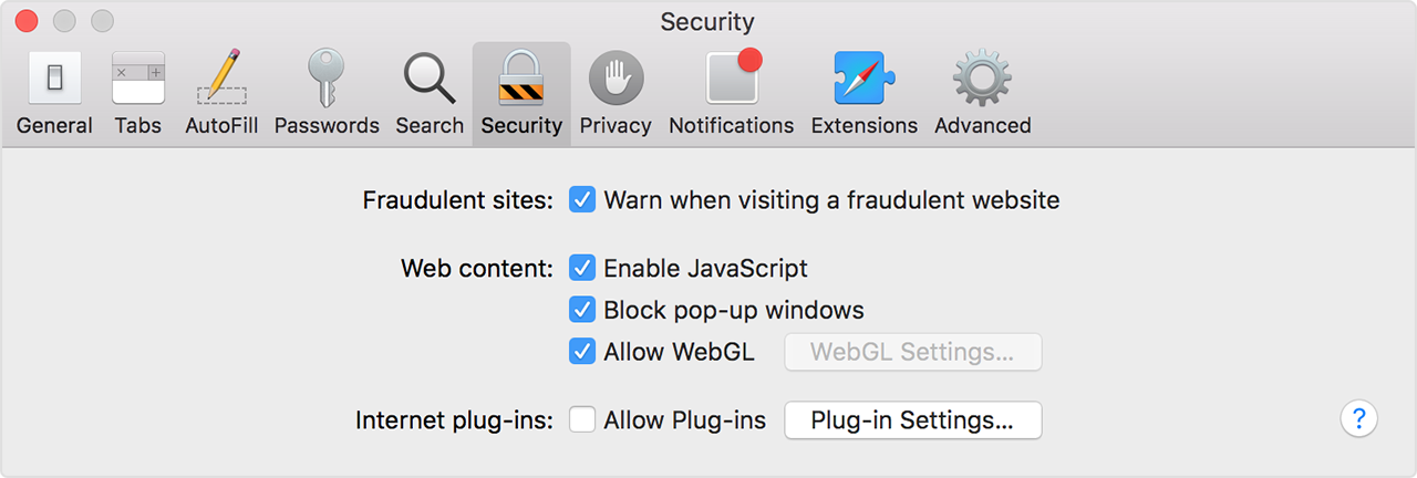 how to unblock plugins on macbook
